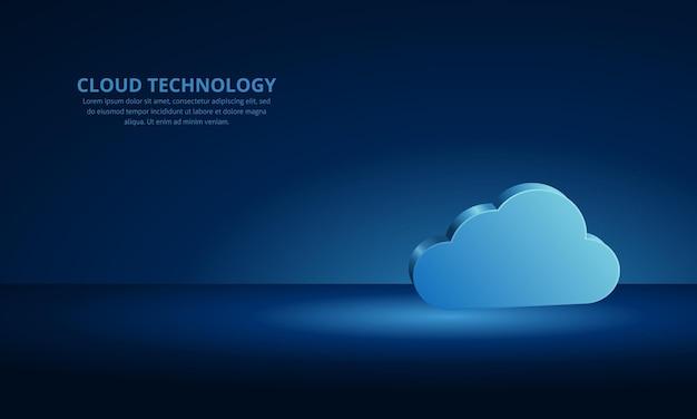 Облачная технология безопасности сети и дизайн фона защиты данных