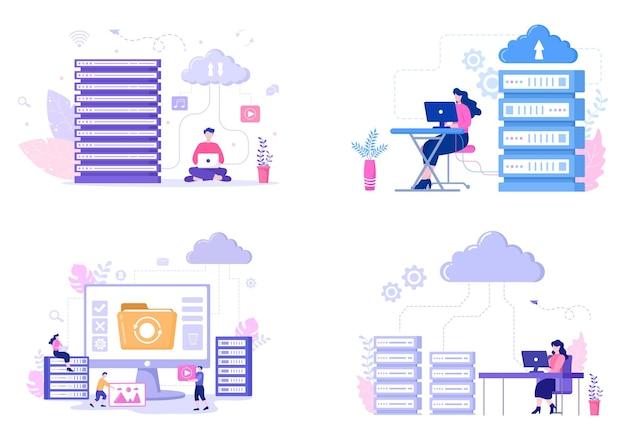 Иллюстрация хранилища облачного сервера