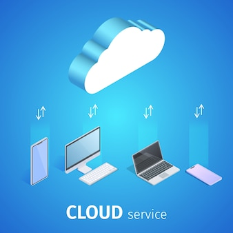 Cloud service square banner