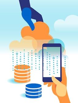 Облачные сервисы и инфраструктура, которые управляют большими данными и информацией