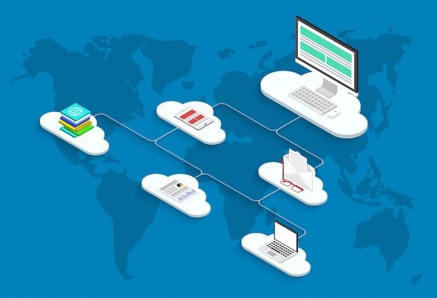 Иллюстрация облачных сервисов