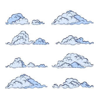 Cloud set on white