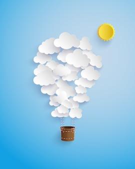 Cloud shape balloon.