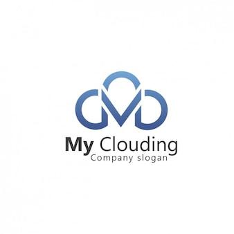 Cloud shape logo template