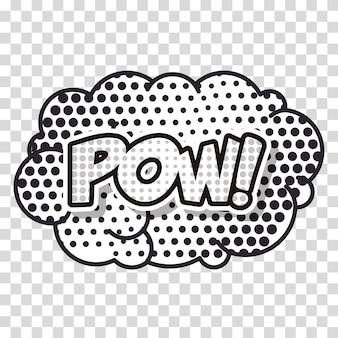 Cloud smoke pop art style vector illustration design