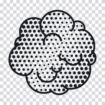 雲の煙ポップアートスタイルのベクトルイラストデザイン