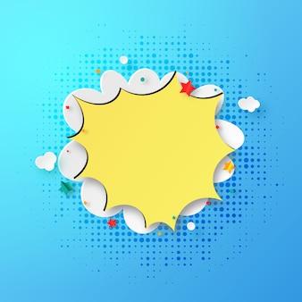 Cloud speech bubble pop art abstract background.vector illustration.