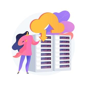 Illustrazione di concetto astratto di archiviazione cloud