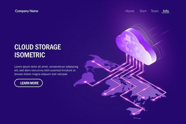 Cloud storage concept. access data from anywhere in the world