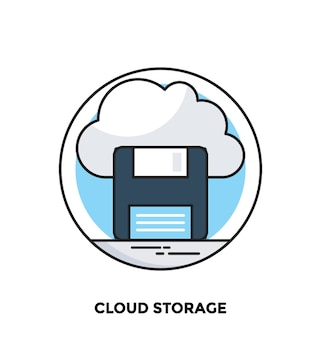 Cloud storage flat icon