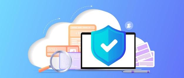 Cloud storage idea antivirus online computing internet database backup server programming