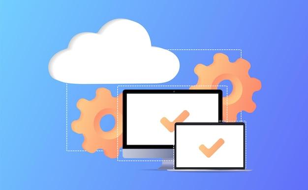 Cloud storage idea online computing internet database backup server limited access control