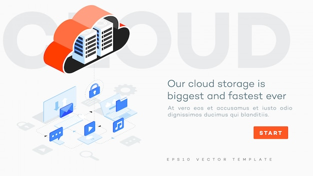 Cloud storage illustration.