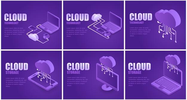 Cloud storage landing page set