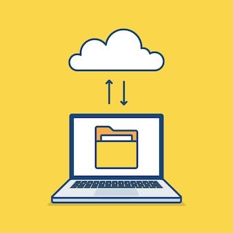 Cloud storage service concept