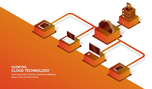 Cloud storage technology and data center concept