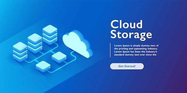 Cloud storage transmission and exchange datacenter