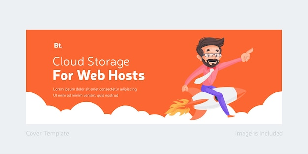 Cloud storage for web hosts facebook cover design
