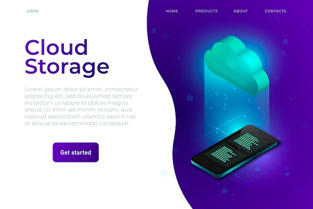 Веб-шаблон облачного хранилища