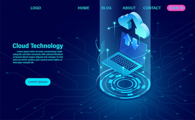 Cloud technology landing page