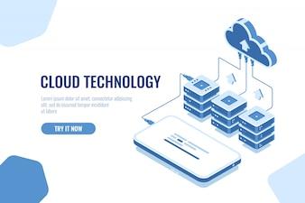 クラウド技術ストレージと転送データ等尺性、携帯電話のデータダウンロード
