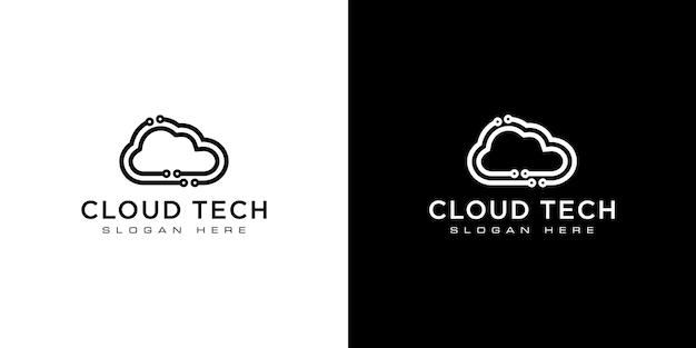 Cloud technology vector template