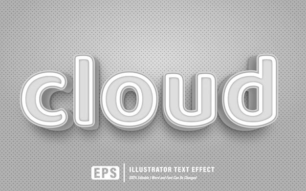 클라우드 텍스트 효과-편집 가능한 텍스트 효과-단어 및 글꼴을 변경할 수 있습니다