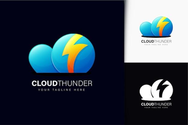 Cloud thunder logo design