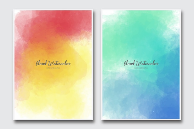 Cloud watercolor abstract background