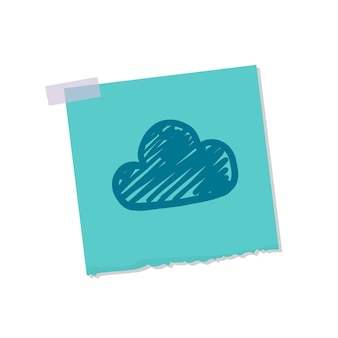 Cloud and weather note illustration