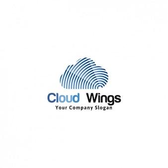 Cloud wings logo template