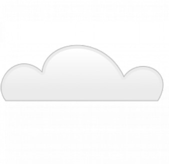 Cloud with flat bottom