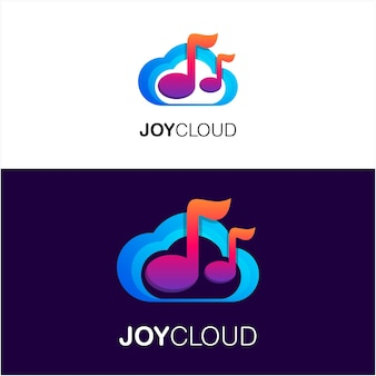 Cloud with tone logo template
