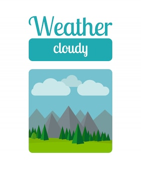 Cloudly weather illustration