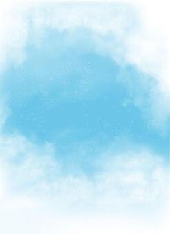 雲と白い背景の上の煙