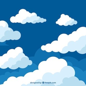Clouds background in flat design