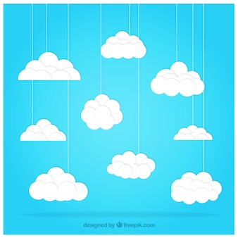 Clouds hanging