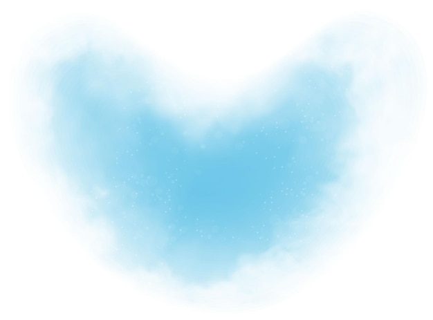 Clouds heart and smoke on blue sky