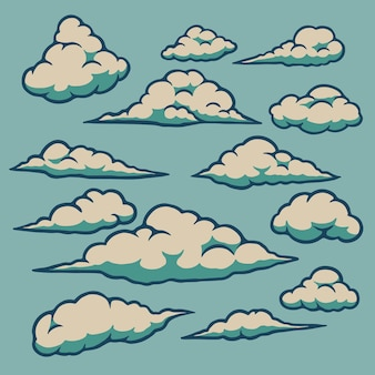 Clouds icon set