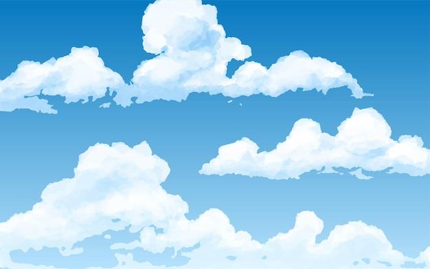푸른 하늘 배경 구름