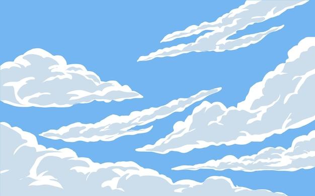 푸른 하늘 그림에 구름
