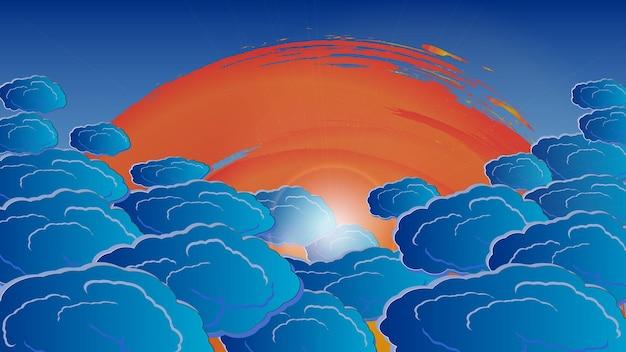 太陽光線の雲。