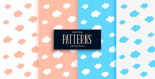 ピンクとブルーの色合いで設定された雲パターン