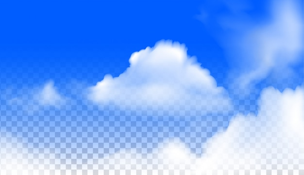 The  clouds realistic  vector