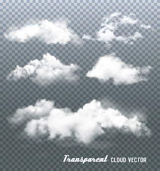 Clouds on transparent background.