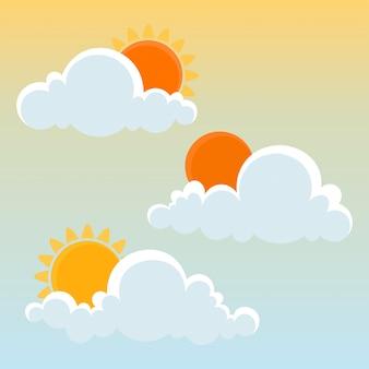 太陽と雲。