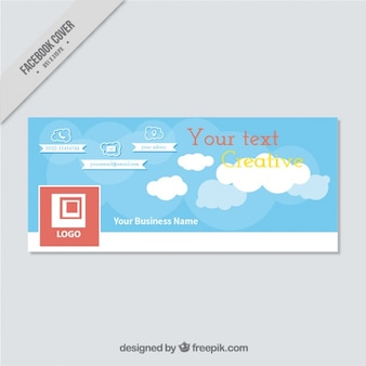 Cloudy facebook cover for business