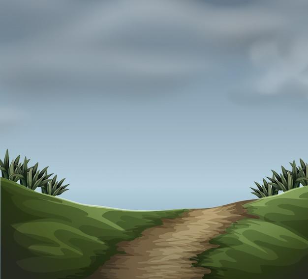 A cloudy natur scene