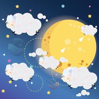 Cloudy sheeps