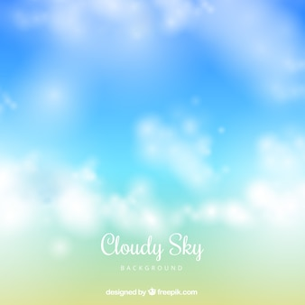 Cloudy sky background in realistic style